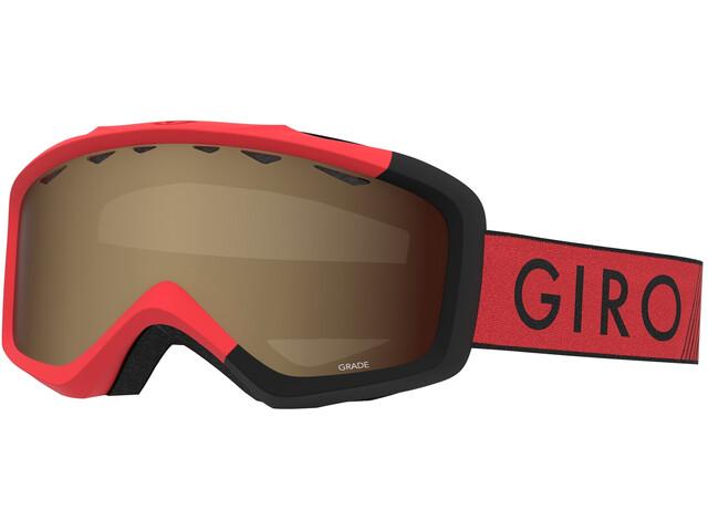 Giro Grade Masque Enfant, red/black zoom/amber rose